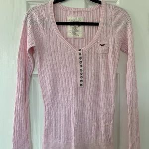 Pink Hollister Knit Long Sleeve